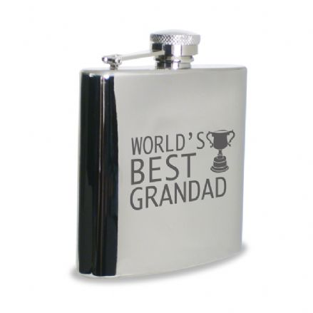 World's Best Grandad Hip Flask